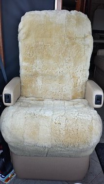 Tailor Made Sheepskin Captian Chair Covers   Active Rv Upholstery Center