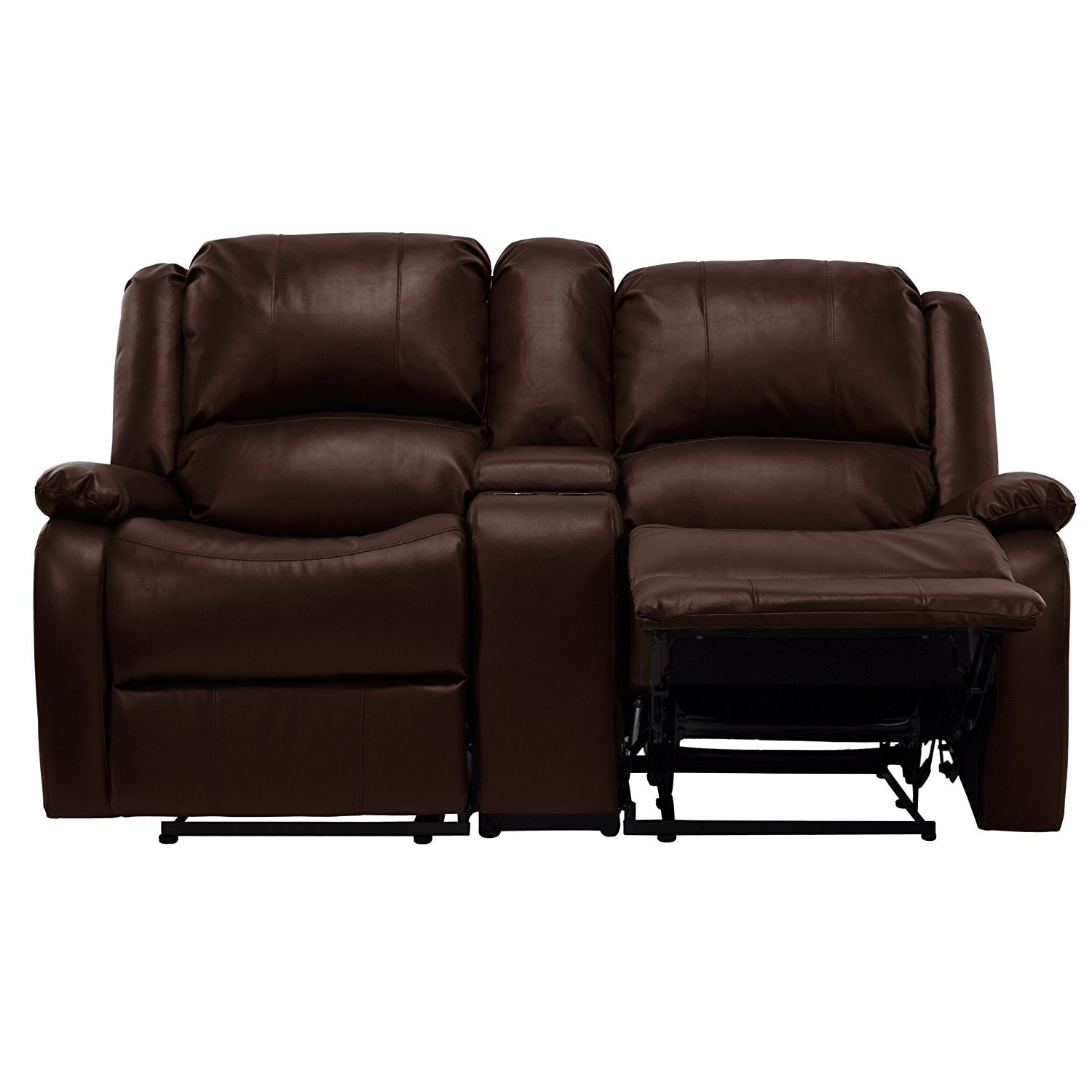 67 Quot Double Rv Zero Wall Hugger Recliner Sofa W Console Brown