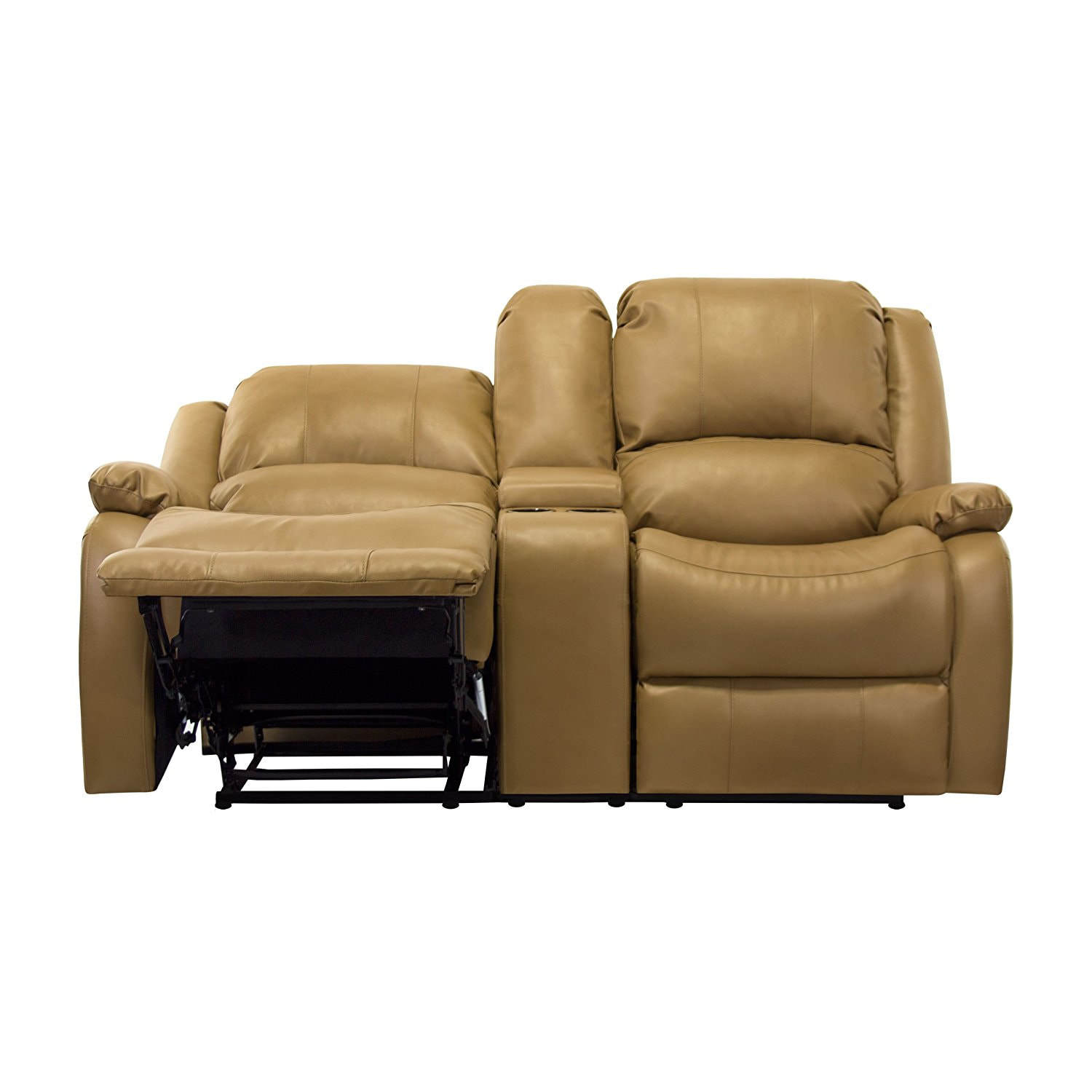 67 Quot Double Rv Zero Wall Hugger Recliner Sofa W Console Tan